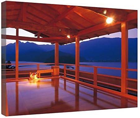 leequeen Canvas Prints Pared Arte – onsen – madera Junta Antecedentes lienzo para listo para colgar para hogar y oficina 16