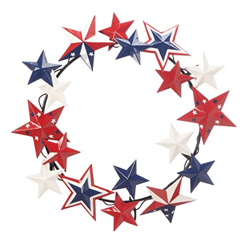 Miles Kimball Metal American Barn Star Wreath by Maple Lane Creations