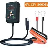 Suuwer 6V/12V 800mA is a Super Smart Battery Charger That Will Constantly Monitor, Trickle Charge and Maintain Battery For Car, Truck, Boat, Motorcycle, RV and Lawn Tractor.