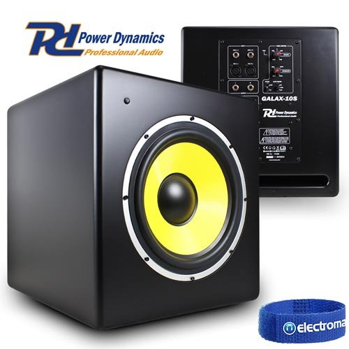 Power Dynamics Galax 10S 10 Inch Active Powered Home Studio Monitor...