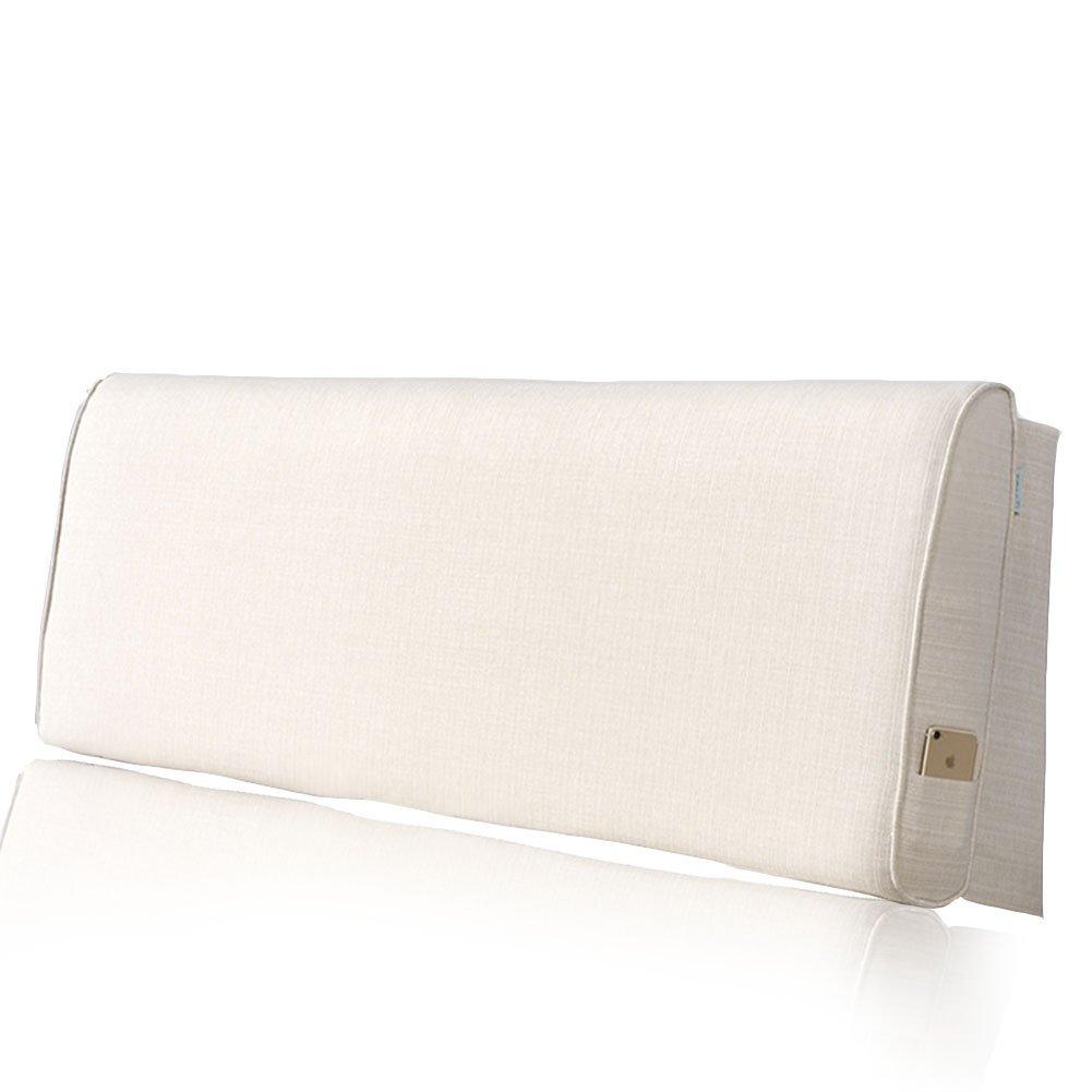 LIANGLIANG クッションベッドの背もたれ ダブル人物超大型通気性汗快適な布、4サイズ、6スタイル (色 : #1with Headboard, サイズ さいず : Length 120cm) B07FRJP3JM Length 120cm #1with Headboard #1with Headboard Length 120cm