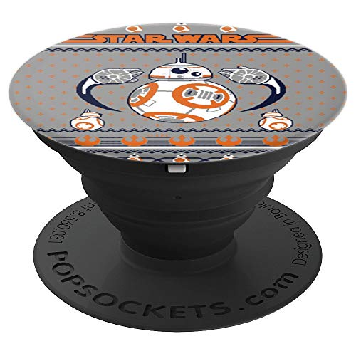 Star Wars BB8 Rebel Ugly Christmas Sweater Pattern - PopSockets Grip and Stand for Phones and Tablets]()