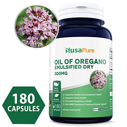 Best Oil of Oregano Extract 300mg Powder Caps (Non-GMO & Gluten Free) with Antioxidant Phytochemicals - Immune and Intestinal Support for Healthy Digestive - Made in USA - 100% Money Back Guarantee!