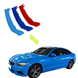 #7: Jackey Awesome Exact Fit ///M-Colored Grille Insert Trims For 2014-2017 F32 F33 F36 4 Series 420i 428i 430i 435i Regular Kidney Grill (For BMW 2014-2017 4 Series,9 Beams)