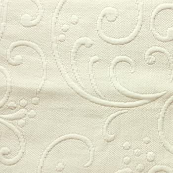 Braga Matelasse Coverlet, Full/Queen, Ivory