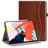 Ztotop for iPad Pro 12.9 Case 2018 - Leather Folio Stand Case Front Smart Cover and Hard Back Shell for 2018 iPad Pro 12.9-inch 3rd Generation (Latest Model) with Auto Sleep Wake - Brown