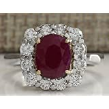 Fashion Women 925 Silver Oval Cut Ruby White Topaz Ring Wedding Jewelry Sz 6-10 (9)