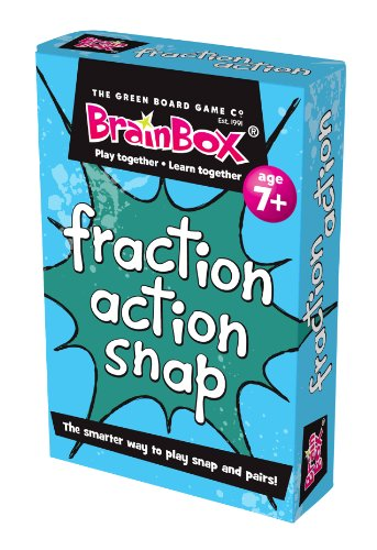 Game Learning Fractions Card - Green Board Games Fraction Action Snap