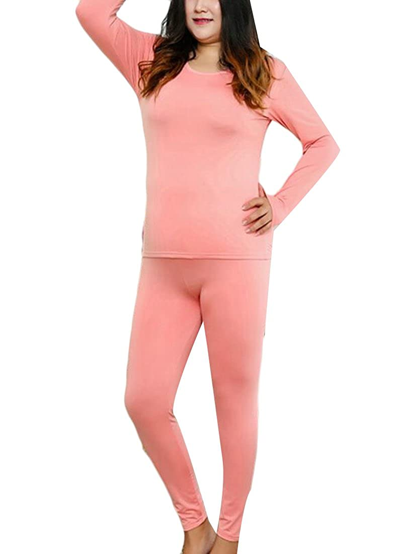 XQS Womens 2-Piece Thermal Underwear Set Fleece Lined Long Johns