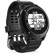 UWear Smart Watch Outdoor sports running IP68 waterproof The treadmill Watch with Global PositioningThe System Heart Rate Compass Pedometer for IOS Iphone Android