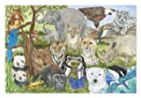 polar bear puzzle - Melissa & Doug Endangered Species Jumbo Jigsaw Floor Puzzle (48 pcs, 2 x 3 feet)