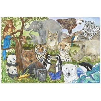 Melissa & Doug Endangered Species Jumbo Jigsaw Floor Puzzle (48 pcs, 2 x 3 feet)