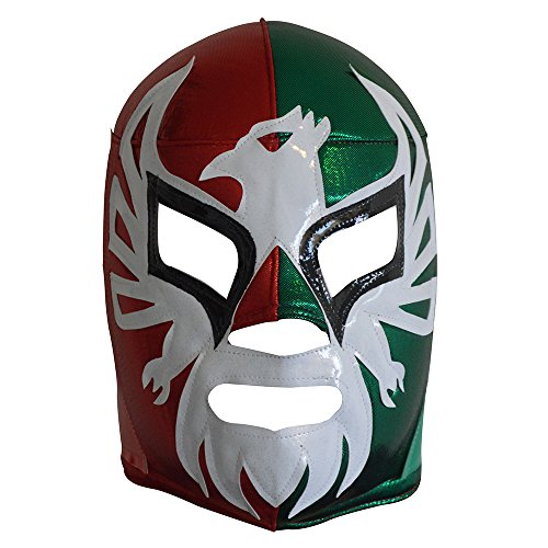 Made in Mexico EL Mexicano Adult Lucha Libre Wrestling Mask Costume Wear (Tricolor) by Made in Mexico