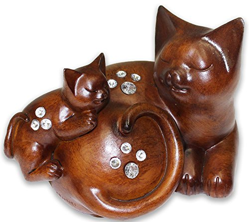 Cats Statuette - Home Décor - Mother and Kitten