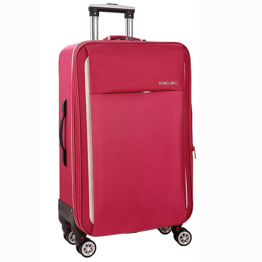 トロリーケース、スタイリッシュな防水360°ミュートキャスタースーツケース B07SBXZCD3 Red