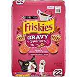 Purina Friskies Dry Cat Food, Gravy Swirlers - 22 lb. Bag