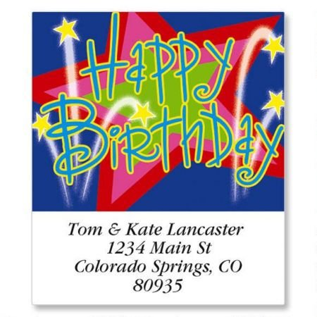 You're a Star Square Birthday Return Address Labels - Set of 144 1-1/2