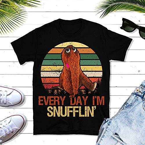 (Every Day I'm Snufflin' Retro Snuffleupagus Muppets Vintage Gift For Men And Women Unisex T-shirt - Premium T-shirt - Hoodie - Sweater - Long Sleeve - Tank)