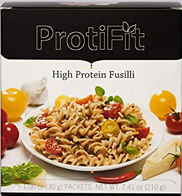 High Protein Fusilli Pasta for Diet and Weight Loss - 110 Calories - 18 Grams of Protein - by Proti Fit