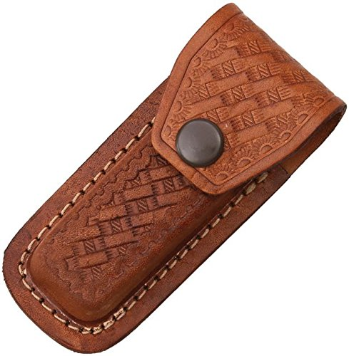 Folding leather embossed basketweave 3 5 4in product image