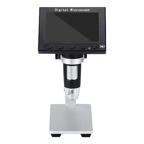 Microscopio electrónico inalámbrico 1000x, Lupa de Video electrónica de Pantalla portátil 8LED con Soporte de