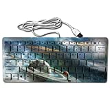 Glaxy Planet Mechanical Feeling USB Wired Multimedia Keyboard For Working Or Prime Gaming