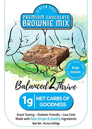 Balanced2Thrive Gluten Free Low Carb Diabetic Friendly Premium Chocolate Brownie Mix 10.4 oz