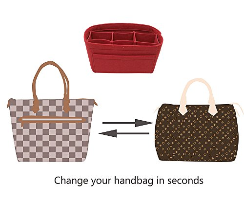 LEXSION Felt Handbag Organizer,Insert purse organizer Fits Speedy Neverfull Red M by LEXSION (Image #6)