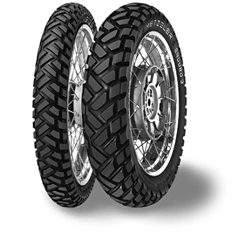 Metzeler Enduro 3 Sahara Tire - Front - 90/90-21 , Position: Front, Speed Rating: H, Load Rating: 54, Rim Size: 21, Tire Size: 90/90-21, Tire Type: Dual Sport, Tire Application: All-Terrain 1625800
