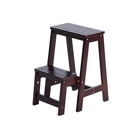 SH-Chairs Multifuncional De Madera Creativa Taburete de Paso ...