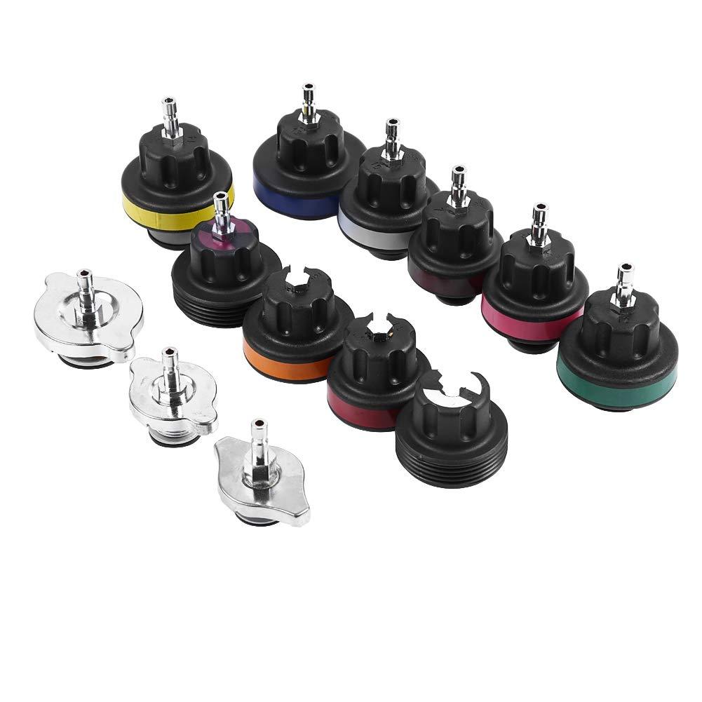 Water Tank Leak Detector, Qii lu 18pcs Universal Radiator Pressure Tester Car Vacuum Type Cooling System Kit by Qii lu (Image #7)