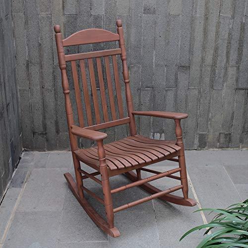 Cambridge-Casual AMZ-130635N Bentley Traditional Porch Rocking Chair, Rocker, Medium Brown (Traditional Rocker Porch)