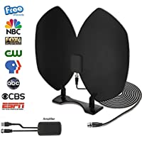 HDTV Antenna, Indoor Amplified TV Antenna 50 Mile Range with USB Power Supply, Detachable Amplifier Signal Booster, Longer 20FT High Performance Coaxial Cable - Upgraded Version with Better Reception