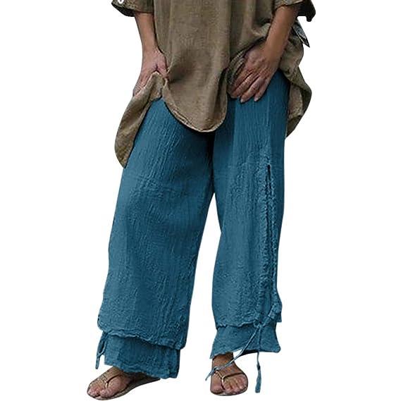 Luckycat Pantalones De Lino Mujer Verano Ropa Lino Mujer ...
