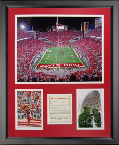 Legends Never Die Ohio State Buckeyes - Ohio Stadium Framed Photo Collage, 16