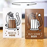 Reversible magnet reminder for fridge, double sided - Buy some beer - Beer is here