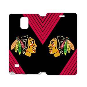 Chicago Blackhawks Solid Background Samsung Galaxy note 4 Case Cover (Laser Technology)