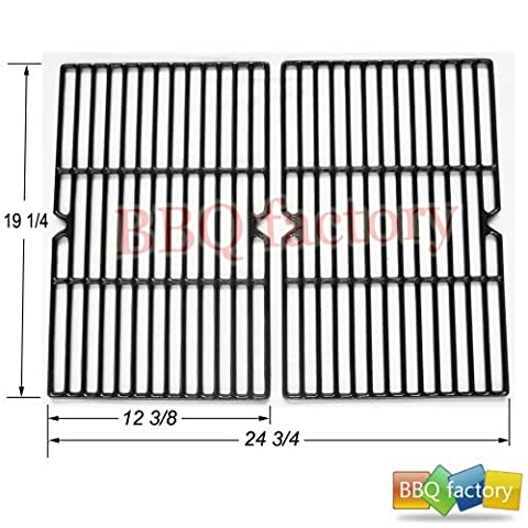 bbq factory Universal Gas Grill Porcelain Coated Cast Iron Cooking Grid JGX152 (Charmglow Sear Burner)