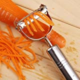 1Pc Vegetable Fruit Peeler Parer Julienne Cutter Slicer Stainless Steel Blade kafewkub