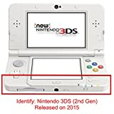 Solid State White Design Decal Skin Sticker for Nintendo 3DS (2015) (Matte Satin)