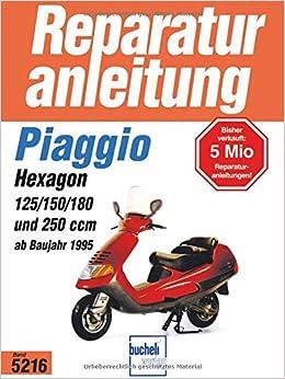PräZise Reparaturanleitung Piaggio Sfera Typhoon Fly Skipper Hexagon Vespa Et 2 4 Gt Gtv Sachbücher Bücher
