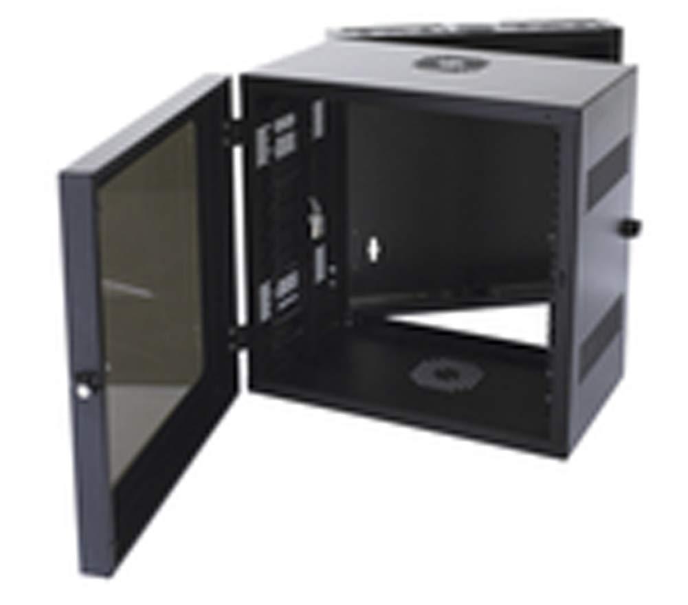 Ortronics OR-MMW122420P-B Ortronics 12U Rack Mount Cabinet, Swing Door