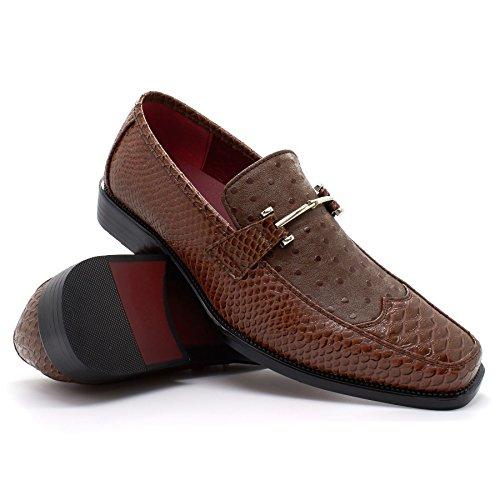 cuña Sandalias marrón Footwear London con hombre CqxSPntF