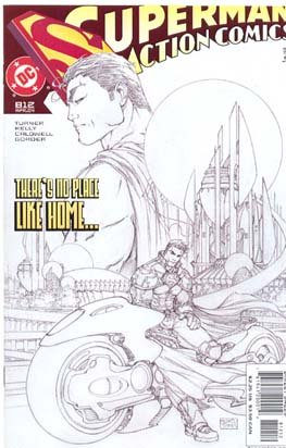 Superman Godfall part 1- Action #812 White Sketch