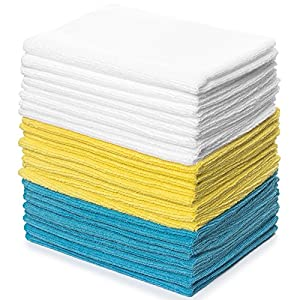 Royal Reusable Microfiber Cleaning Cloth Set - 12 x 16 Inch Microfiber Cloth - 24 Pack Washcloth, Auto Detailing Supplies – Cleaning Rags, Works Great with Windex