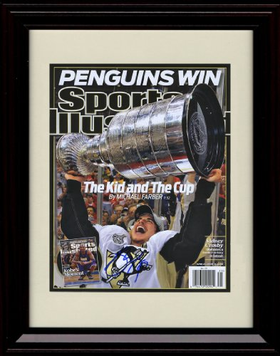 Framed Pittsburgh Penguins Sports Illustrated Stanley Cup Autograph Replica Print - Champs!