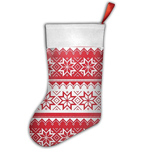 er Pattern Wallpaper Christmas Hanging Stocking,Assorted Santa Gift Socks Hanging Accessories For Xmas Tree Decoration Only Printed One Side (Barbie Vintage Sweater)