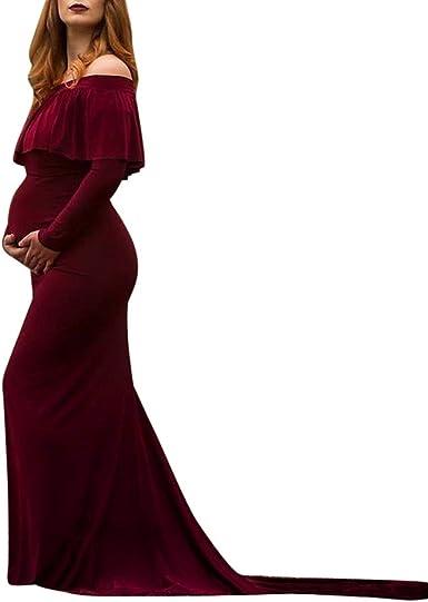 STRIR Vestido de Maternidad Mujer Fiesta Largos Boda Mujer ...