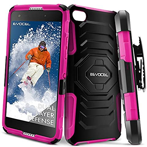 Alcatel OneTouch Idol 5 Case, Evocel [New Generation] Rugged Holster Dual Layer Case [Kickstand][Belt Swivel Clip] For Alcatel OneTouch Idol 5 (6060C), Pink (Evocel Case Alcatel)