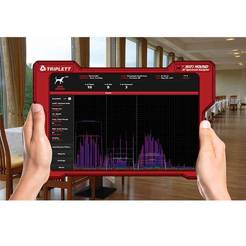 Triplett WiFi Hound 2.4 GHz and 5 GHz Wireless Network/RF Spectrum Analyzer to Visualize and Troubleshoot Wi-Fi Issues for Smart Homes, Businesses, and More (WFHOUND)